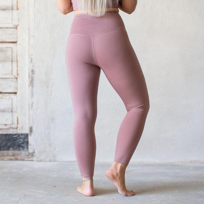 Yoga leggings High rise 7/8 Rose Quartz - Girlfriend Collective
