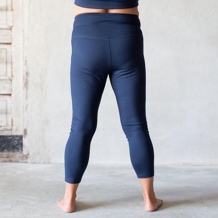 Yoga leggings High rise 7/8 Midnight  - Girlfriend Collective