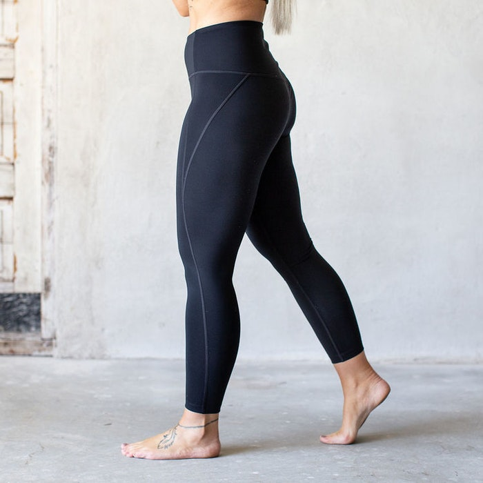 Yoga leggings High rise 7/8 Black - Girlfriend Collective