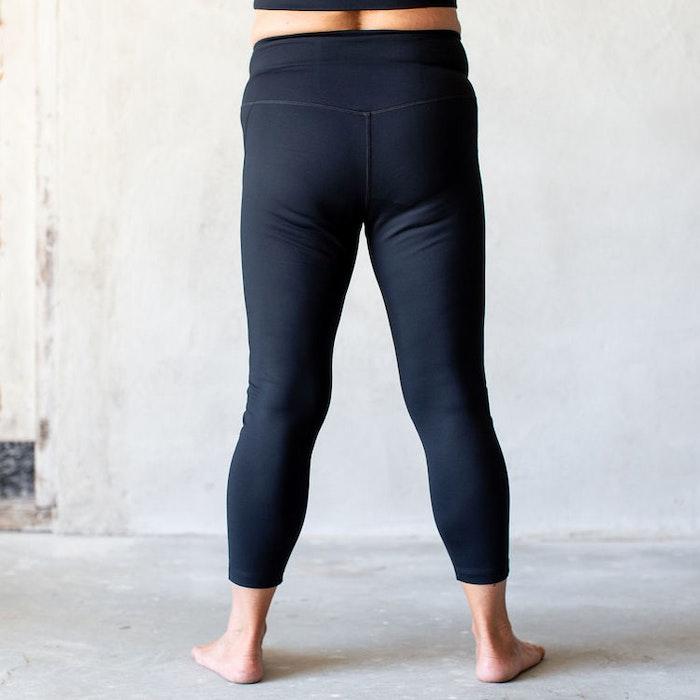 Yoga leggings High rise 7/8 Black - Girlfriend Collective