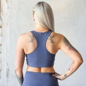 Sport-BH Yoga Paloma Cropped Tanzanite - Girlfriend Collective