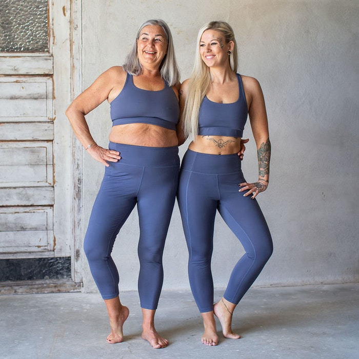 Sport-BH Yoga Paloma Cropped Tanzanite - Girlfriend Collective