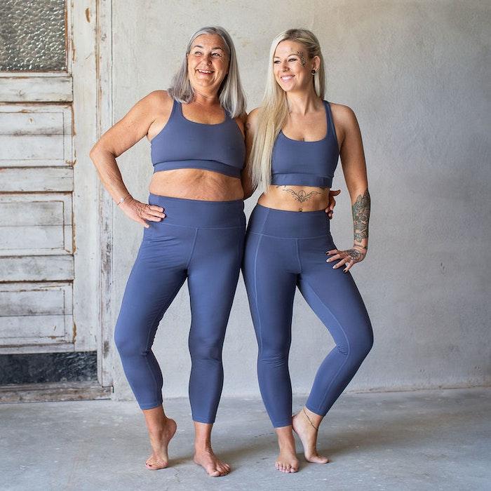 Yoga top Paloma Cropped Tanzanite - Girlfriend Collective