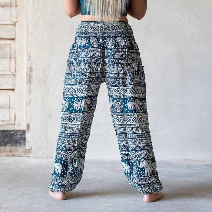 Relaxbyxa raka Turkos elefant  - Bohemian Harem