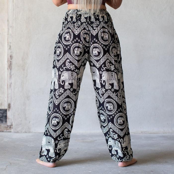 Relaxbyxa Svarta elefanter - Bohemian Harem