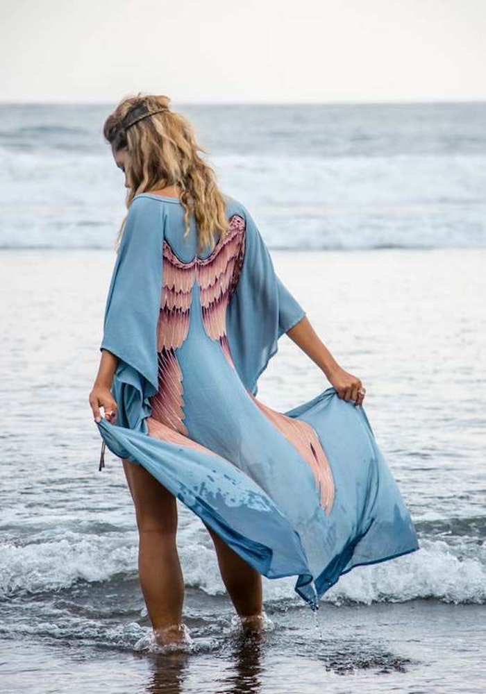 """Everyday Kaftan top """"Ice blue"""" long- Warriors of the divine"""
