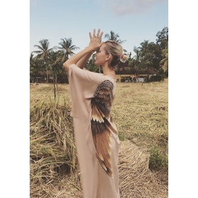 "Everyday Kaftan top ""Fawn caramel wings"" long- Warriors of the divine"