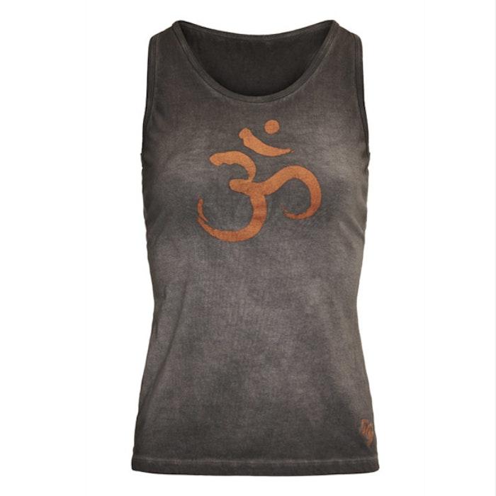 Yogatopp/linne OM Off black - Urban Goddess
