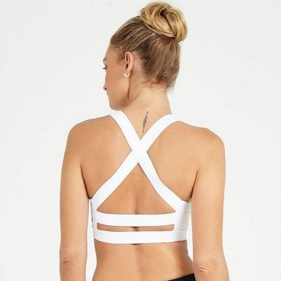 Yoga White Butterfly bra från Dharma Bums