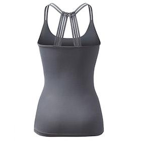 Yogatopp/linne Brigitte Anthracite grey - Curare Yogawear