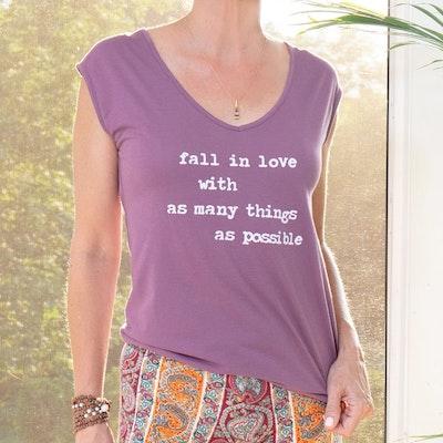 Linne Fall in love...plommon -  SuperLove Tees