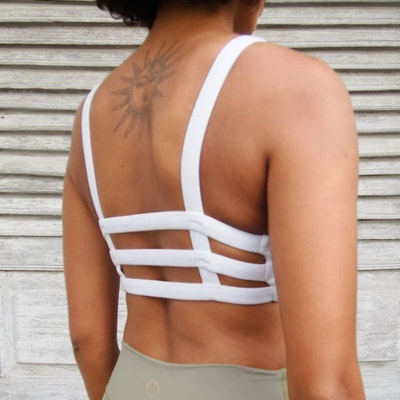 Sport-BH Yoga Boxy crop top White - Indigo Luna