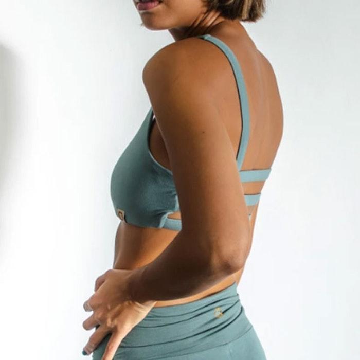 Sport-BH Yoga Boxy crop top Sage - Indigo Luna