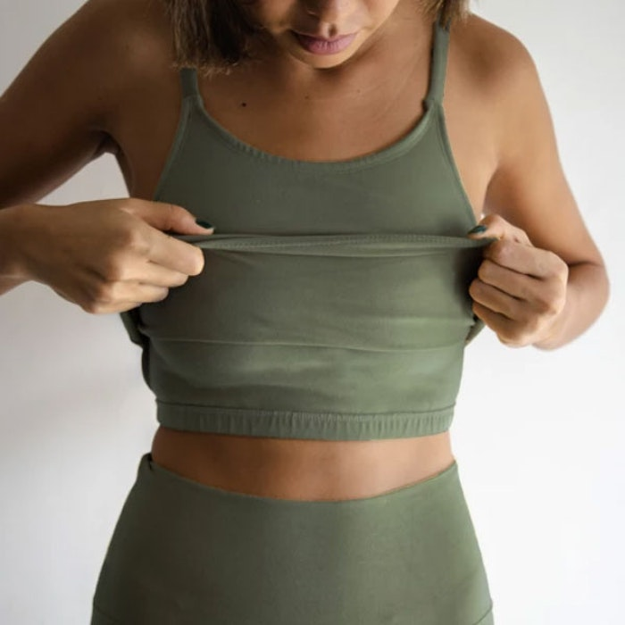 Yogatopp Ananda tank Kale - Indigo Luna