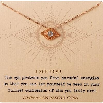 """Halsband """"I see you"""" förgyllt från Ananda Soul"""