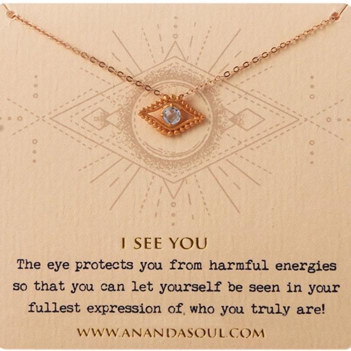 """Halsband """"I see you"""" i förgyllt från Ananda Soul"""