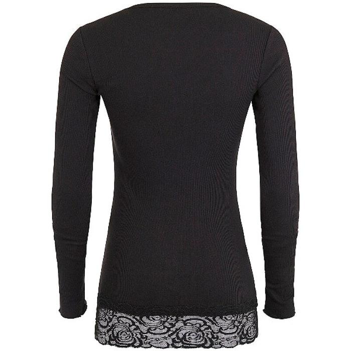 Yogatröja Long Shirt Black - Mandala