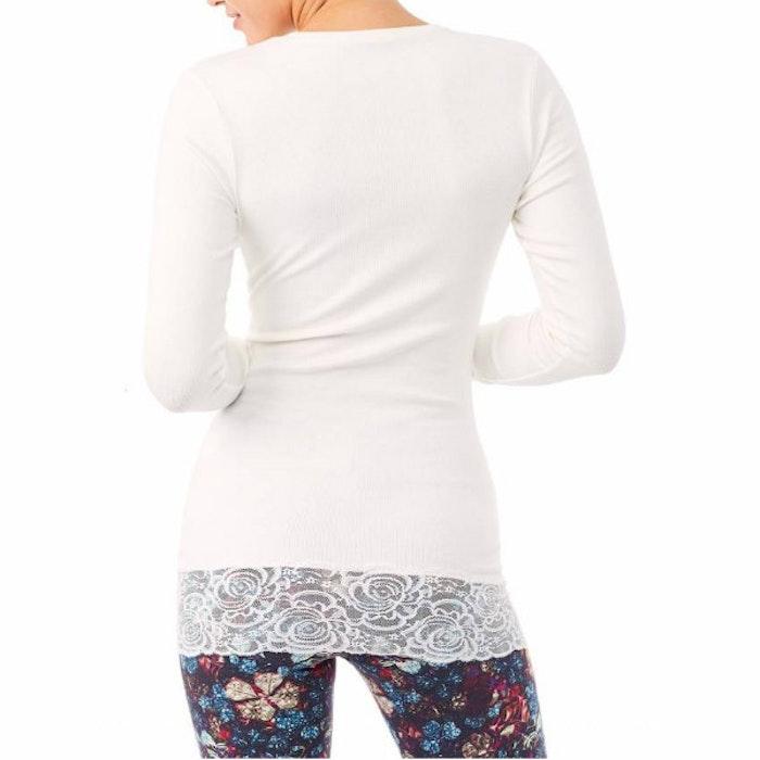 Yogatröja Long Shirt White - Mandala
