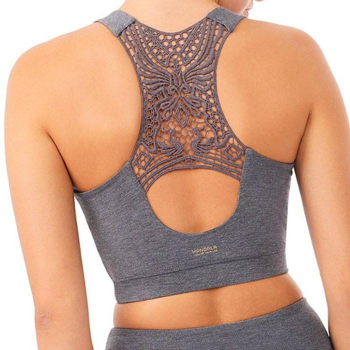 Sport-BH Yoga Crochet Grey - Mandala