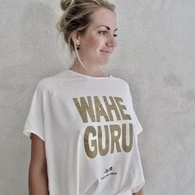 T-shirt Pärlvit Wahe Guru - RAJ 108