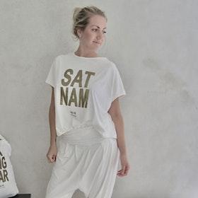 T-shirt Pärlvit Sat Nam - RAJ 108