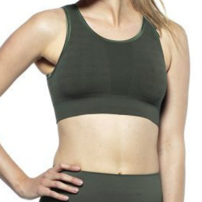 Sport-BH Yoga Crystal Camo Green - Run & Relax