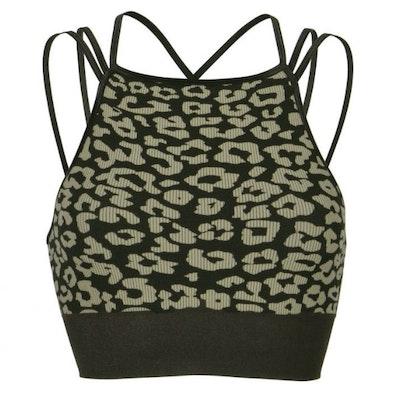 Sport-BH Yoga Leopard Black & Sand - Run & Relax
