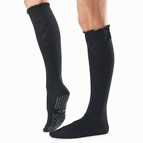 Yogastrumpor Selah Knee High Grip Socks Tavi Ebony - Tavi Noir