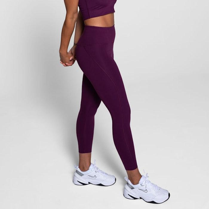 Yoga leggings High rise Long Plum  - Girlfriend Collective