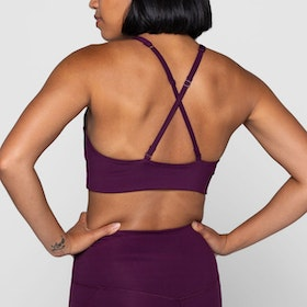 Sport-BH Yoga Topanga Plum - Girlfriend Collective