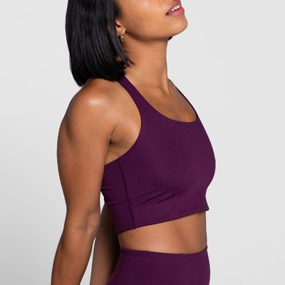 Sport-BH Yoga Paloma Classic Plum - Girlfriend Collective