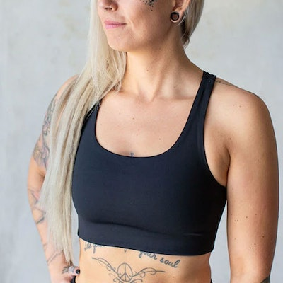 Sport-BH Yoga Paloma Cropped Black - Girlfriend Collective