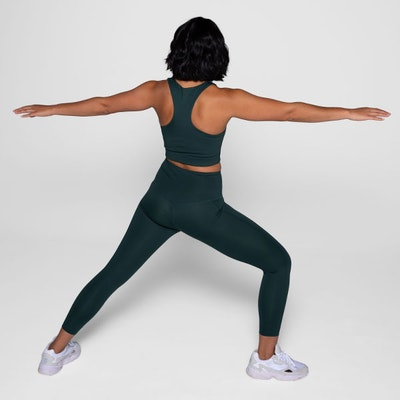Yoga leggings High rise Long Moss  - Girlfriend Collective