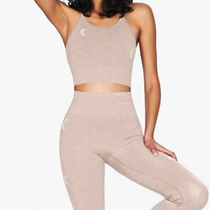Sport-BH Yoga Solstice Midi Top Rosé/Gold - Moonchild Yogawear