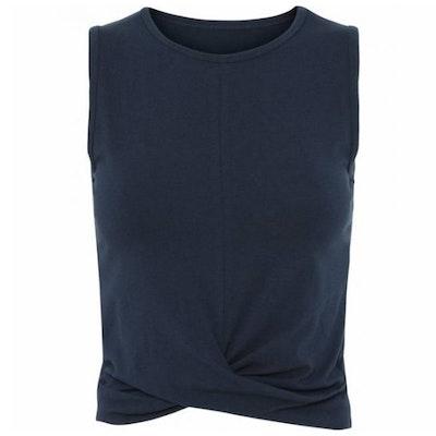 Yoga Linne Draped Tank Navy Blue - Moonchild Yogawear