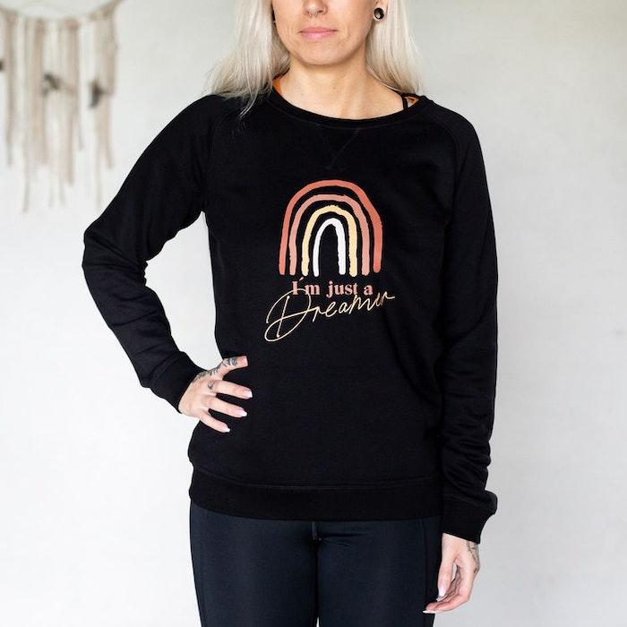 "Sweatshirt ""I´m just a dreamer"" Svart - Soul Factory"