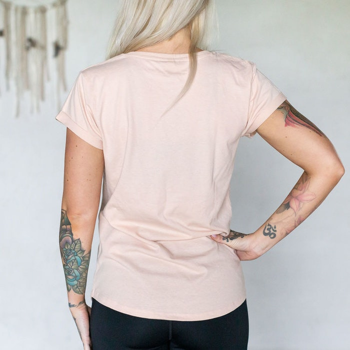 "T-shirt ""Crystal junkie"" Misty Pink - Yogia"