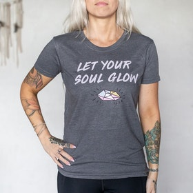 T-shirt Let Your Soul Glow Grå - Yogia