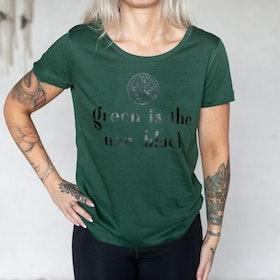 "T-shirt ""Green is the new black"" Grön - Yogia"