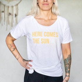 "T-shirt ""Here comes the sun"" White - Soul Factory"