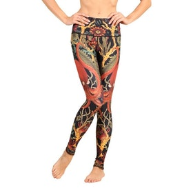 Yogaleggings Coral My Name - Yoga Democracy