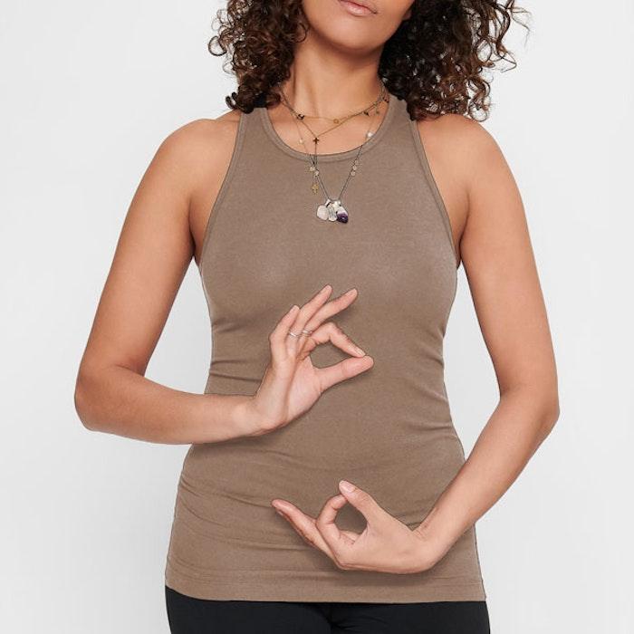 Yogatopp/linne Prana Earth - Urban Goddess