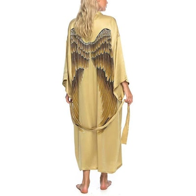 "Silk angelwings Bathrobe ""Golden Goddess"" - Warriors of the divine"