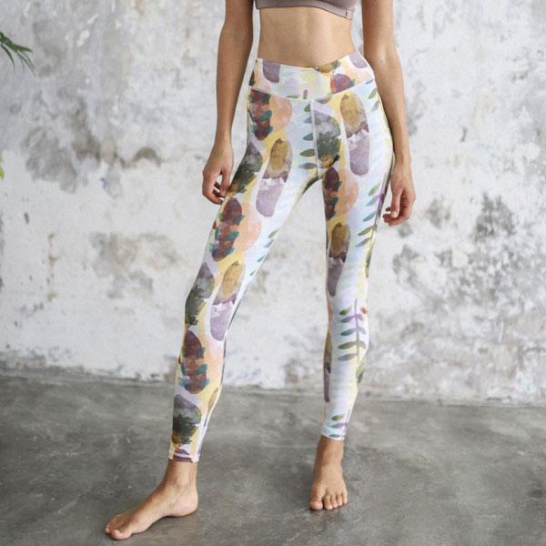 Yogaleggings Maya leggings Watercolour - Indigo Luna