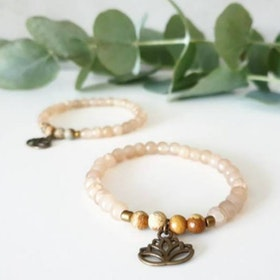 Stenarmband Lotus Guld - Paz By Julia