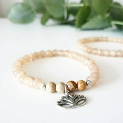 Stenarmband Lotus Silver - Paz By Julia