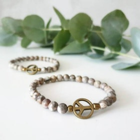 Stenarmband Maifanite Guld - Paz By Julia