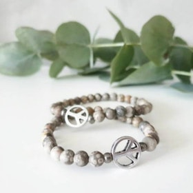 Stenarmband Peace Maifanite Silver - Paz By Julia