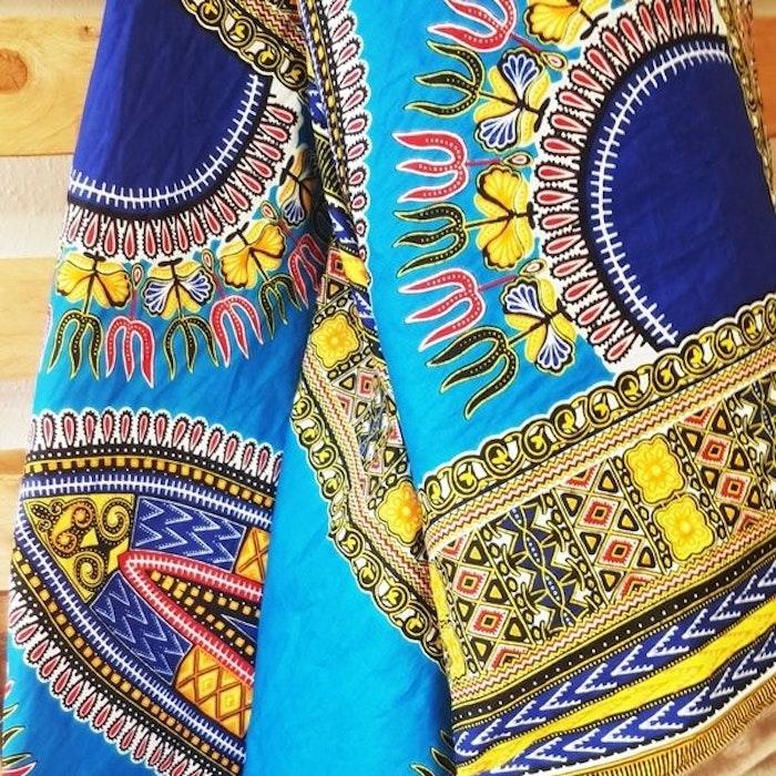 Yogafilt African Wax Blå/gul - E-swiss