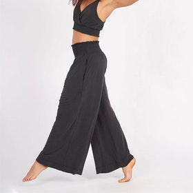 Yogabyxor Oracle pants black från Dharma Bums